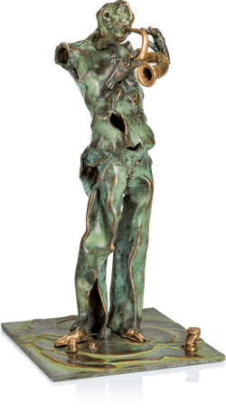 Bronzefigur »Straßenmusikant« von Nikolaus-Otto Kruch
