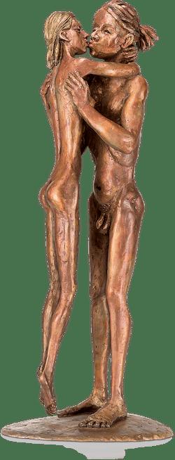 Bronzefigur Little Romance von Michal Trpák