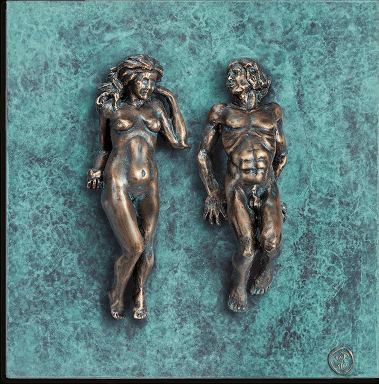Bronzefigur »Adam & Eva« von Veronika Psotková