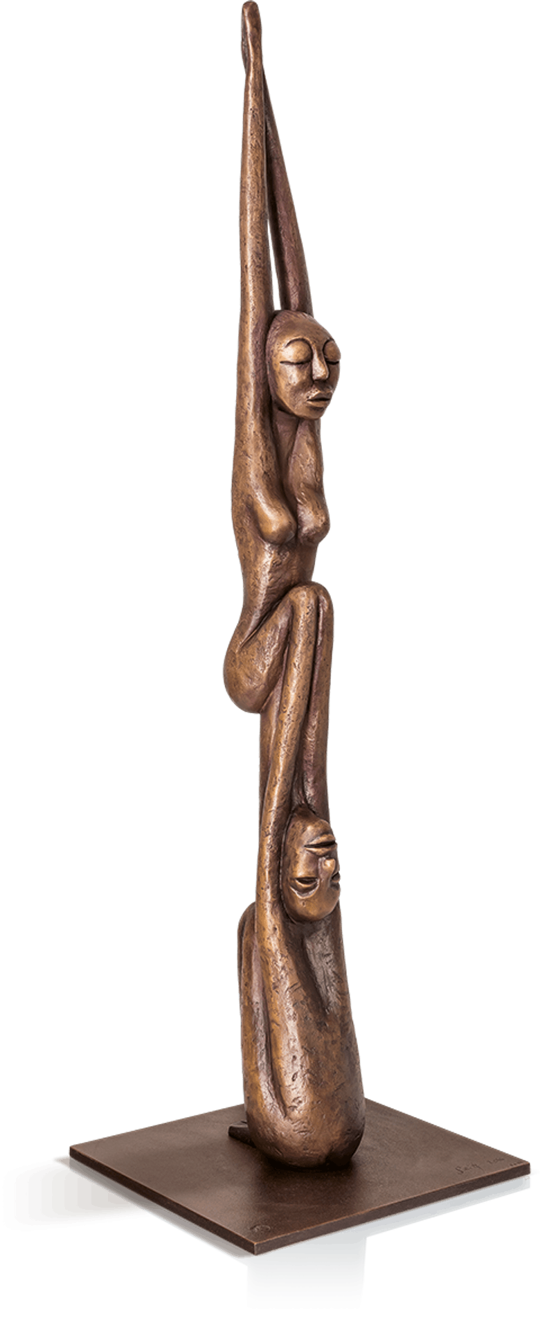 Bronzeskulptur-Devotion