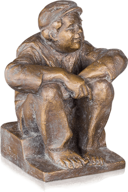 Bronzefigur Heiterer Schlingel von Friedhelm Zilly