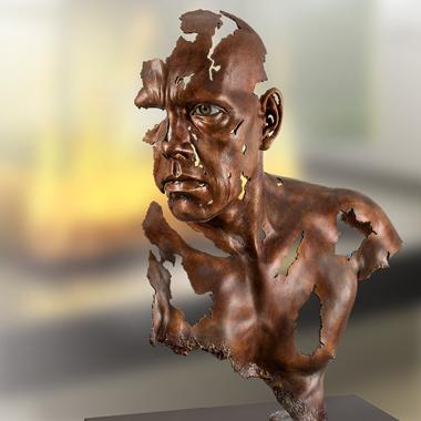 Bronzefigur von Jamie Salmon