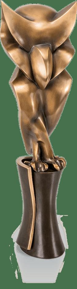Bronzeskulptur-Eule