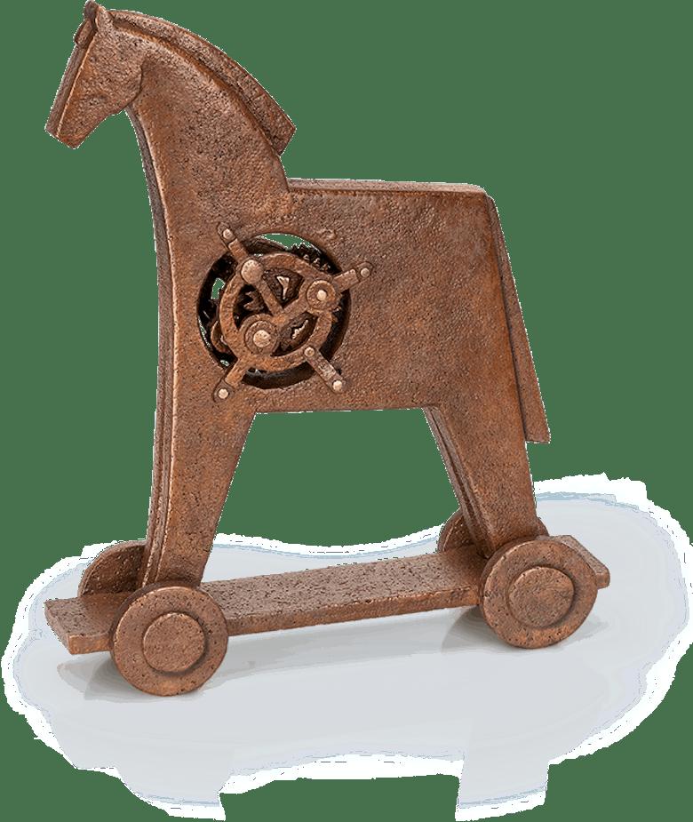 Bronzefigur Trojanisches Pferd von Heinz Rupp