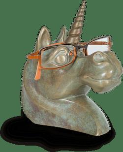 Bronzefigur Einhorn von Jagna Weber