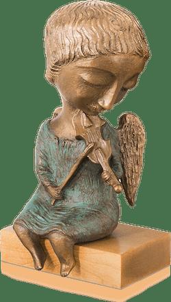 Bronzefigur Engel mit Geige von Elya Yalonetski