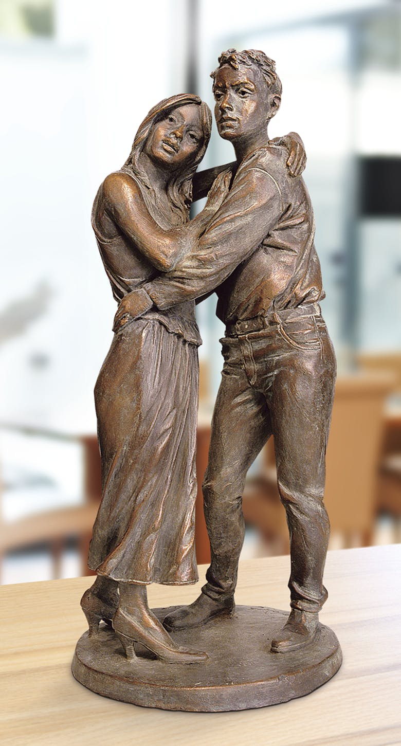 Bronzefigur Liebespaar von Leo Wirth