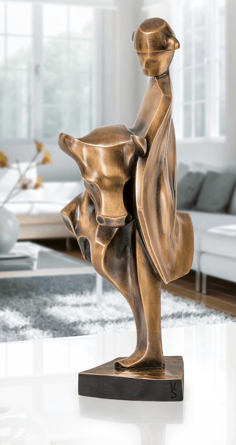 Bronzefigur Stierkampf von Robert Simon