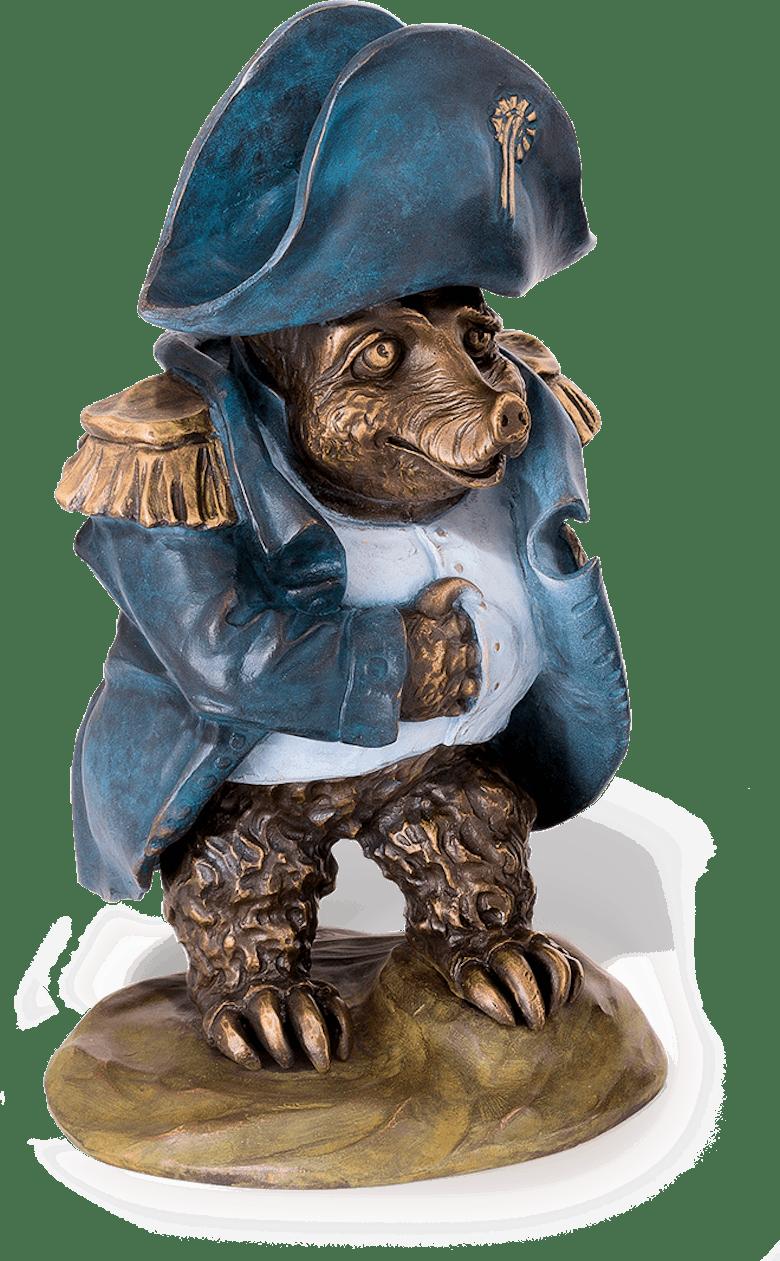 """Bronzefigur Maulwurf """"Napoleon"""" von Atelier Strassacker"""