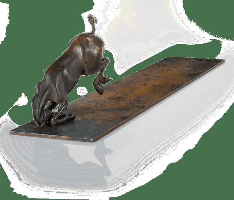 Bronzefigur Zeit zur Wende von Woytek