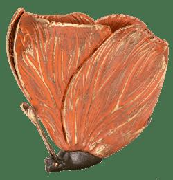 Bronzeskulptur Schmetterling