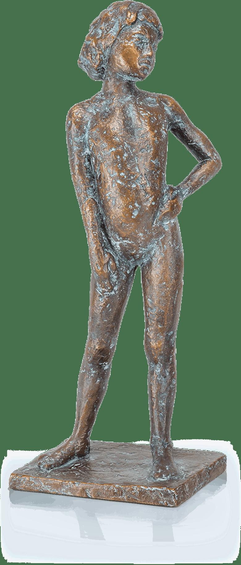 Bronzeskulptur-Mädchen