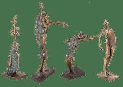 Bronzefigur Jahreszeitenset von Woytek