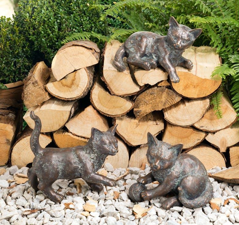 Bronzefigur 3 Kätzchen im Set von Atelier Strassacker