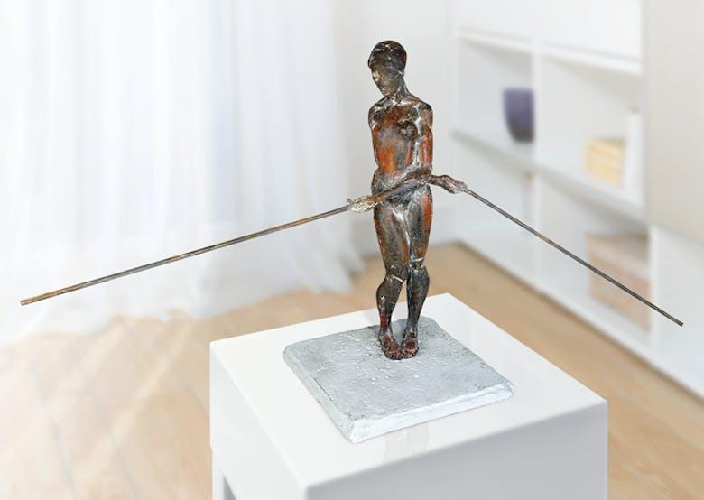 Bronzefigur Stabtanz von Martin Pottgiesser