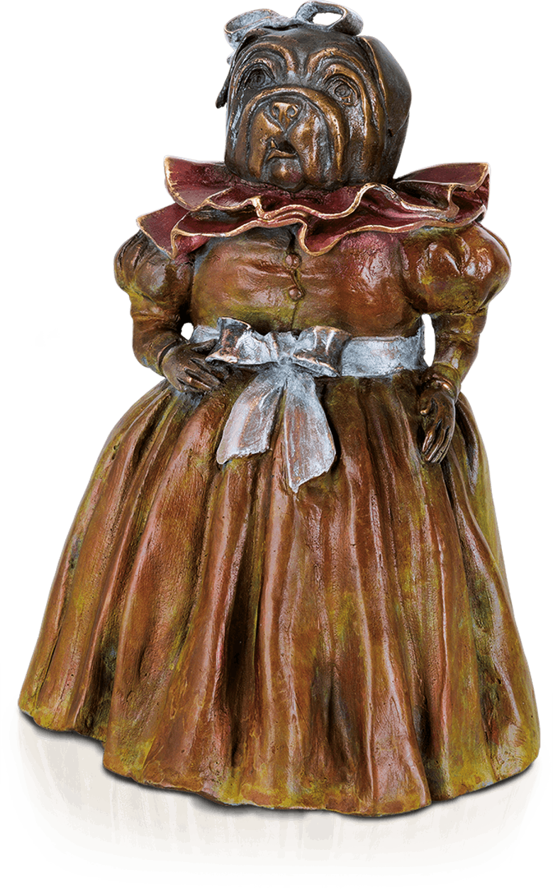 Bronzefigur Menine Dog von Agnès Boulloche