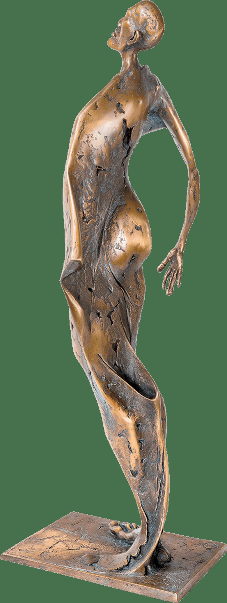 Bronzefigur Winter von Woytek