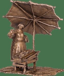 Bronzefigur Marktfrau von Joseph Michael Neustifter