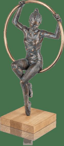 Bronzefigur »Al Cerchio« von Damiano Taurino
