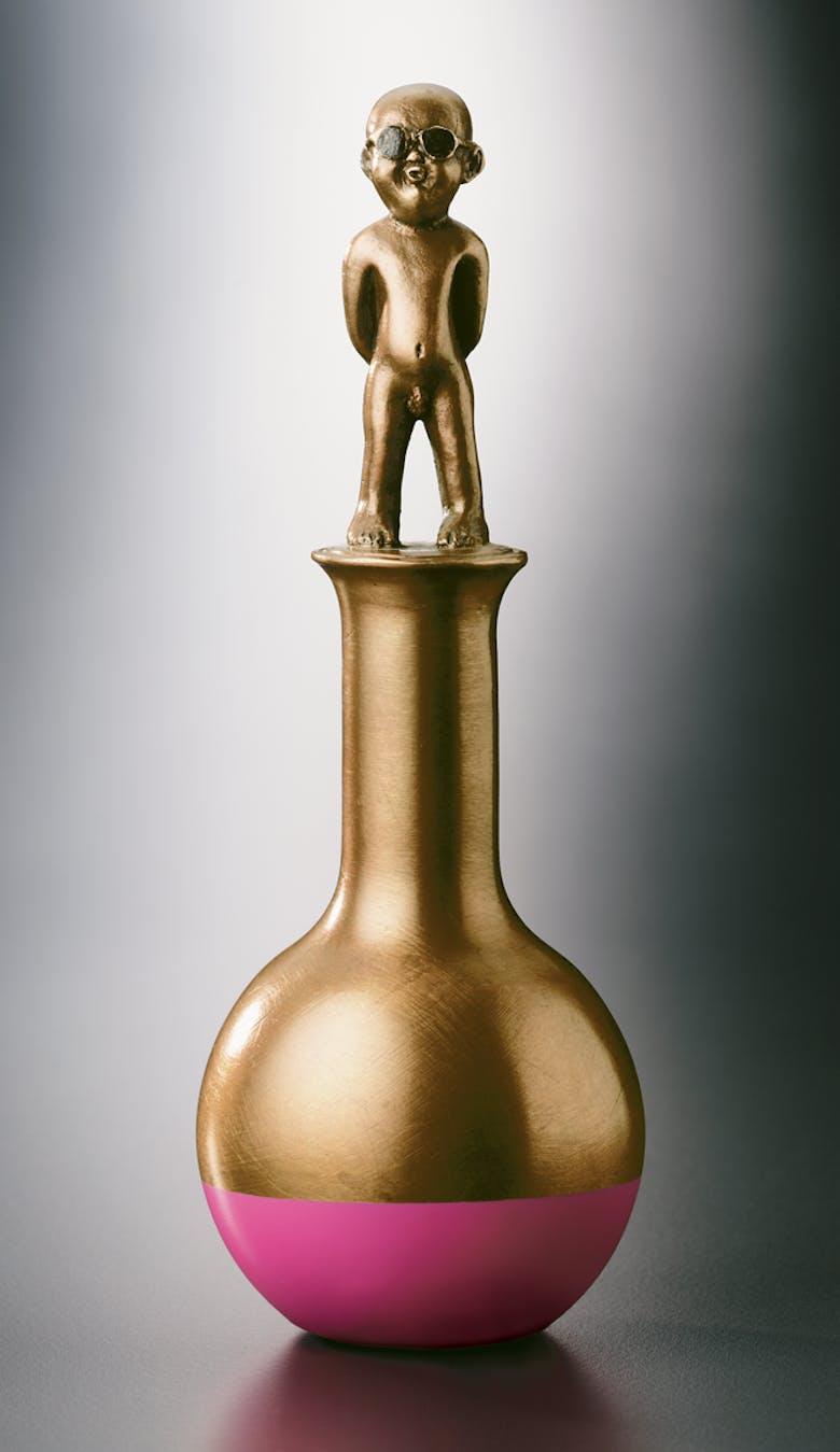 Bronzefigur Homo 2000 von Guido Messer