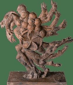 Bronzefigur Kraft-Feld von Wolfgang Knorr