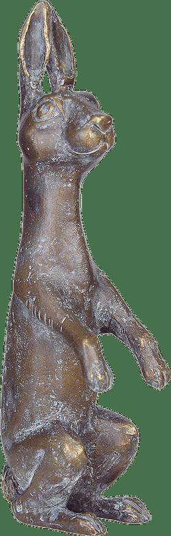 Bronzefigur Hase von Kurt Grabert