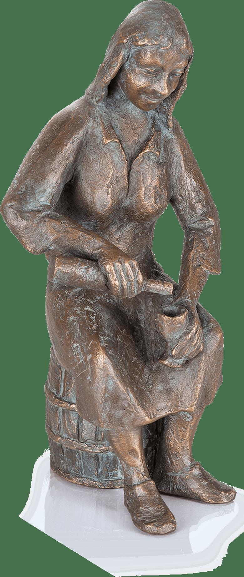 Bronzefigur Die Einschenkerin von Theophil Steinbrenner