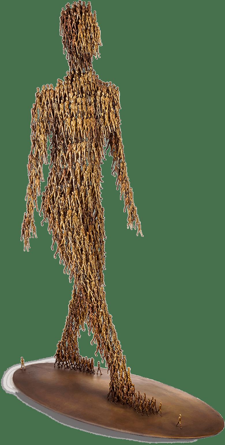 Bronzefigur Going von Michal Trpák