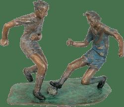 Bronzefigur Das Spiel von Winfried Tränkner