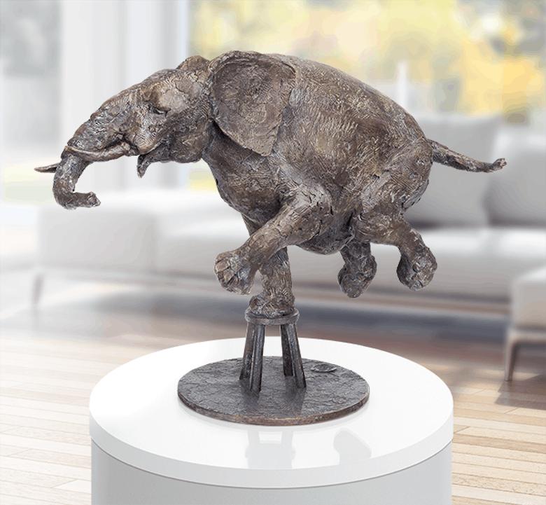 Bronzefigur Zirkuselephant von Hans Nübold
