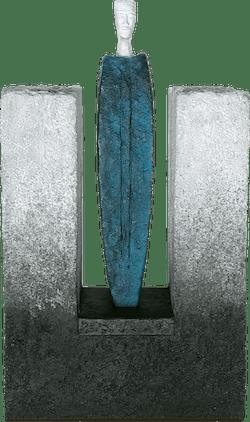 Bronzefigur Case I von Josette Taramarcaz