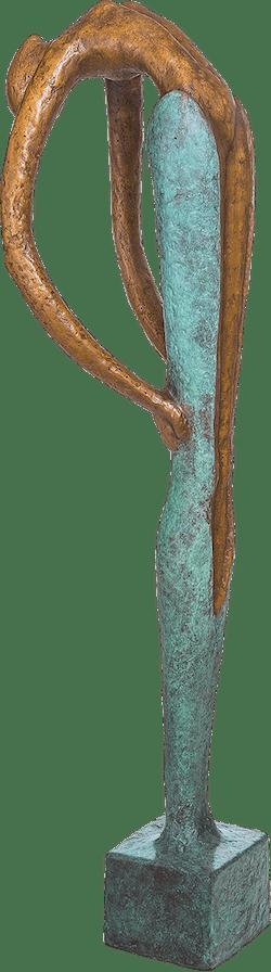 Bronzefigur Die Häutung von Andrea Kraft