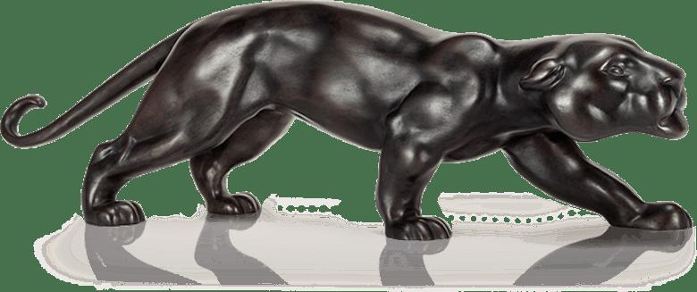 Bronzefigur Panther, groß von Atelier Strassacker