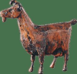 Bronzefigur Ziege von Hermann Schwahn