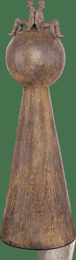 Bronzefigur Rücken an Rücken von Michel Favre