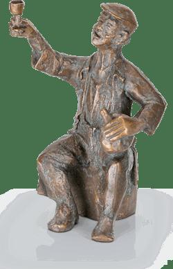 Bronzefigur Fröhlicher Zecher von Steinbrenner