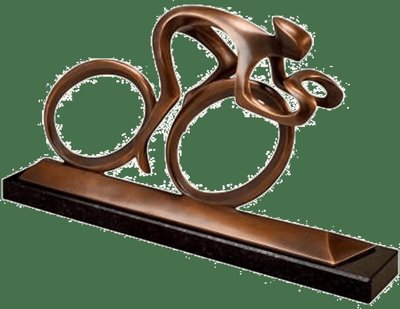 Bronzefigur Radler, bronze von Torsten Mücke