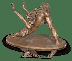 Bronzefigur Ballerina Galina von Luigi Colani