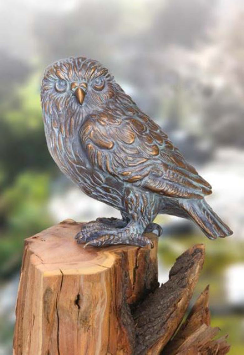 Bronzefigur Eule von Atelier Strassacker
