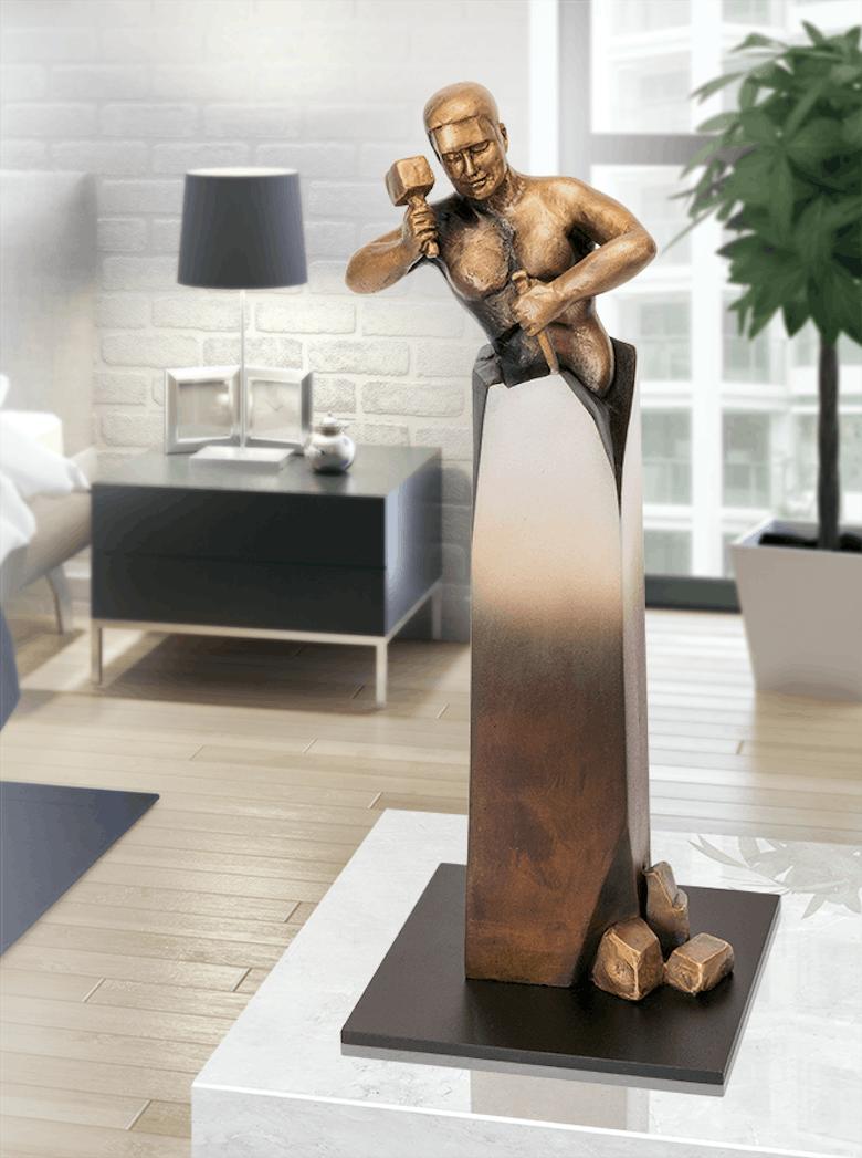 Bronzefigur Le Sage 2015 von Jungers