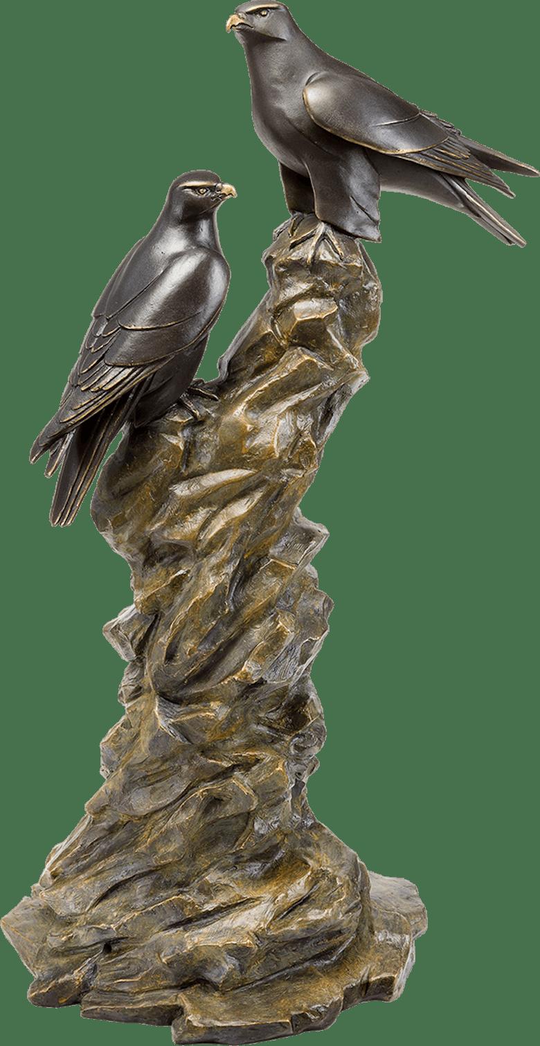 Bronzefigur Gerfalken von Atelier Strassacker