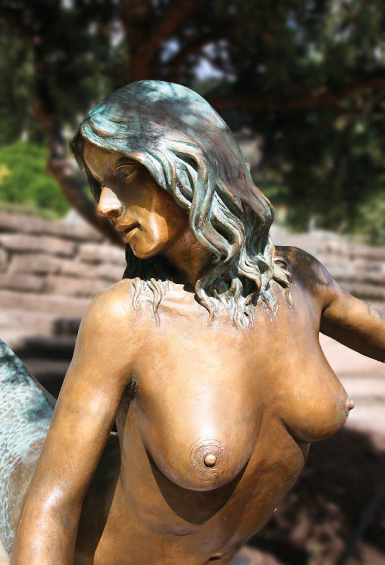 Bronzefigur Nymphe von Leo Wirth