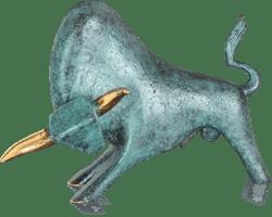 Bronzefigur Mistral von Heinz Rupp