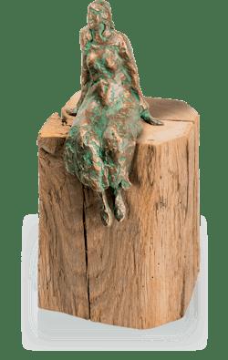 Bronzeskulptur-Stille