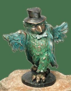 Bronzefigur Der Bräutigam: die Drossel von Atelier Strassacker
