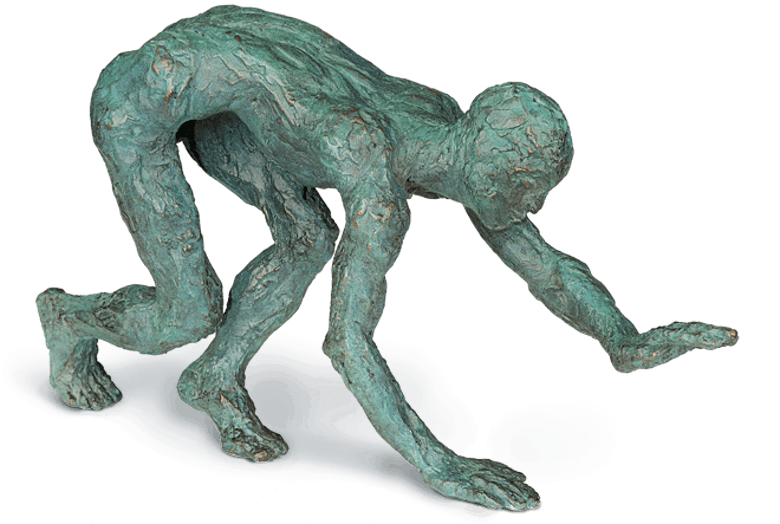 Bronzefigur Humanimal von Gudrun Steen-Andersen