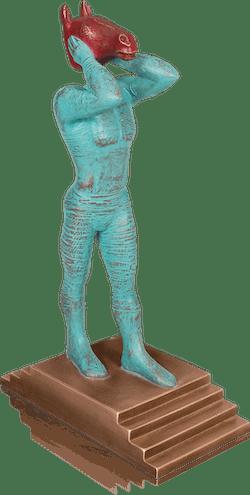 Bronzefigur Joker von Günther Stimpfl