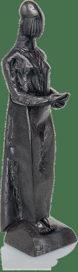 Bronzefigur Die Anbieterin von Giovanni de Angelis