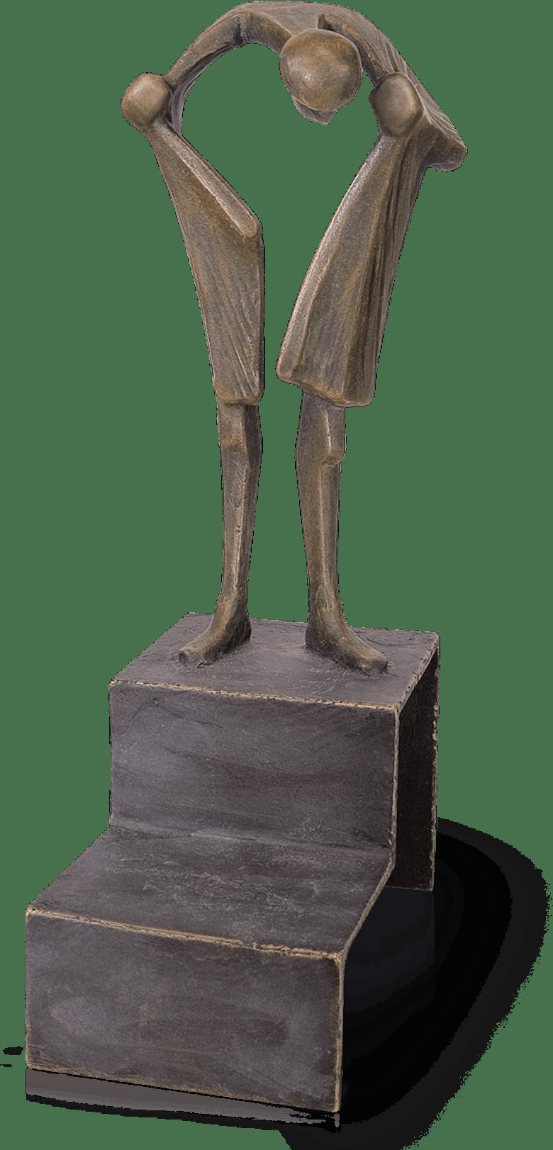 Bronzefigur Sein Herz suchend von Kurtfritz Handel