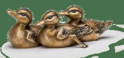 Bronzeskulptur Kükengruppe